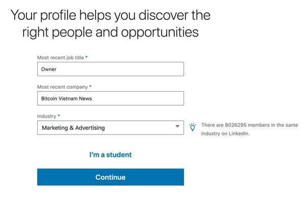 LinkedIn yêu cầu khai báo thông tin chính xác