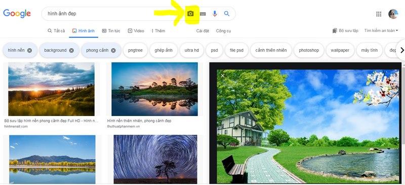 tim hinh anh tren google image